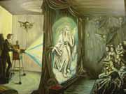 Le retour des spectres dans une seance de fantasmagorie