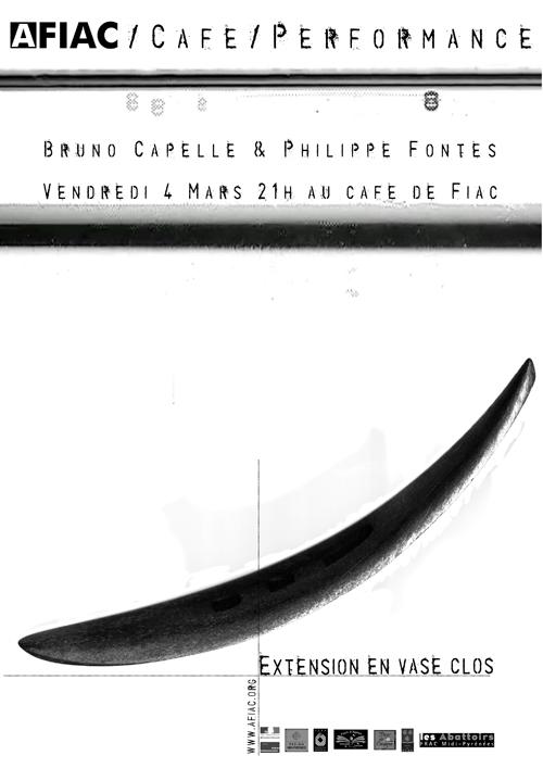 Une performance de Philippe Capelle et Philippe Fontes au café de Fiac le 4 mars 2011