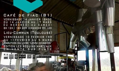 Exposition AFIAC Le Lieu Commun de Jean-Luc Favero à l'occasion de son livre Lovni Invasion