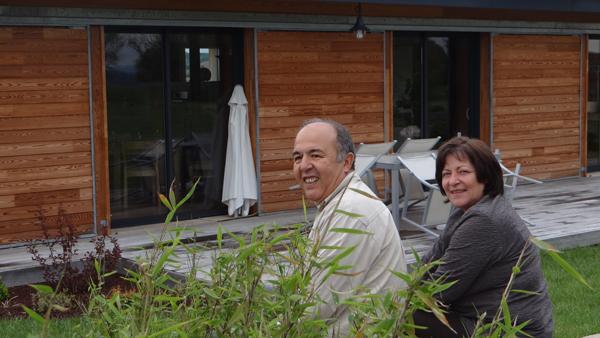 Nasser et Evelyne Zerrouk accueillent Lionel Sabatté