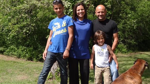 La famille Hedidar accueille Rémi Groussin